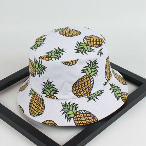 Women Summer Pineapple Printed Bucket Hats Lovely Casual Fis
