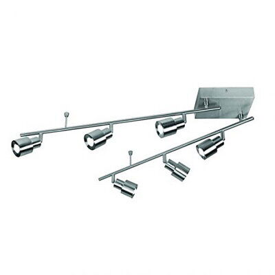 (Satin Nickel Integrated LED Contemporary 6-light Fixed Track Ceiling )