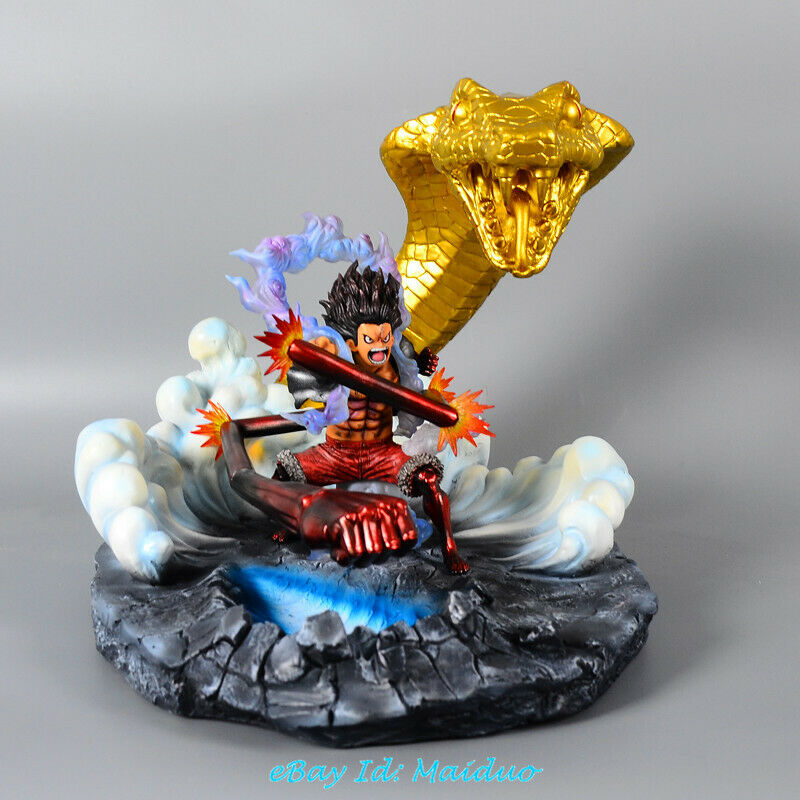 One Piece Monkey D Luffy Resin Recast Model Gear Forth Painted Statue Resin GK