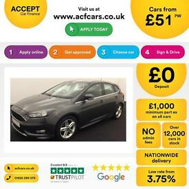 Ford Focus Zetec S FROM £51 PER WEEK!