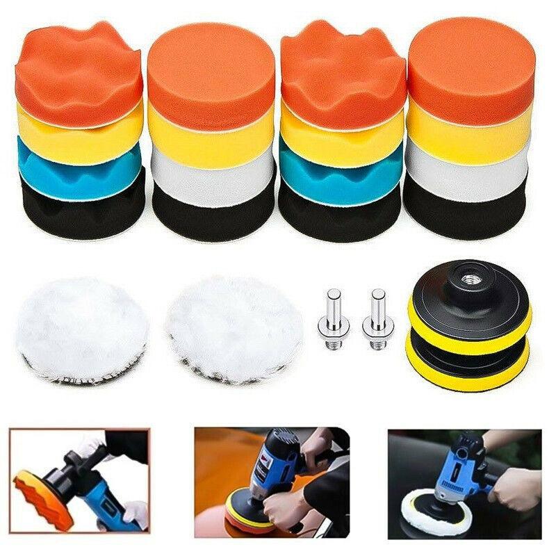 22Pcs 3 Inch Car Polishing Pad Set Sponge Buffer Waxing Buffing Pad Drill Set Buffers & Polishers