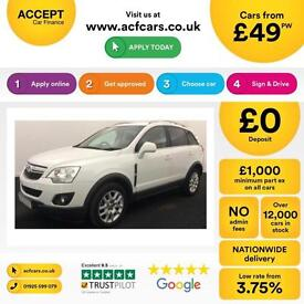 WHITE VAUXHALL ANTARA 2.2 CDTI 163SE 4WD DIAMOND 2WD EXCLUSIVEFROM £49 PER WEEK
