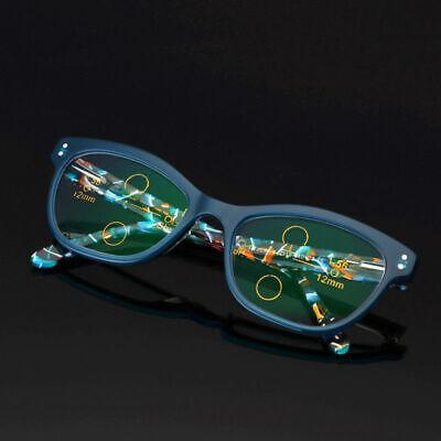 Damen Transition Photochrome Gleitsichtbrille Lesebrille Varifocals Leser UV E15