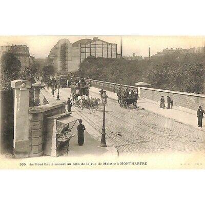 [75] Paris - Montmartre. Le Pont Caulaincourt au coin de la rue de Maistre.