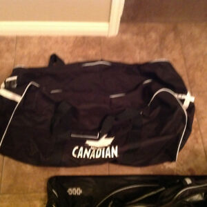 "New hockey bag approx 36""- 16"" - 16""  $25"
