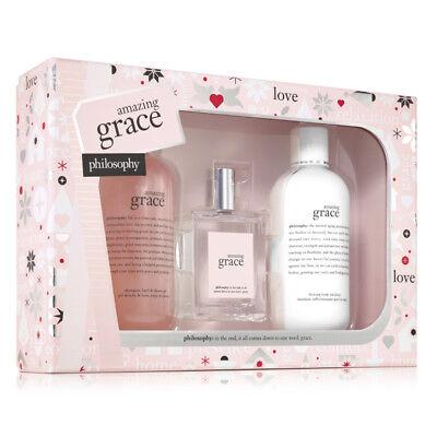 Grace Gift Set - Philosophy Amazing Grace 3-Piece Gift Set Holiday 2018