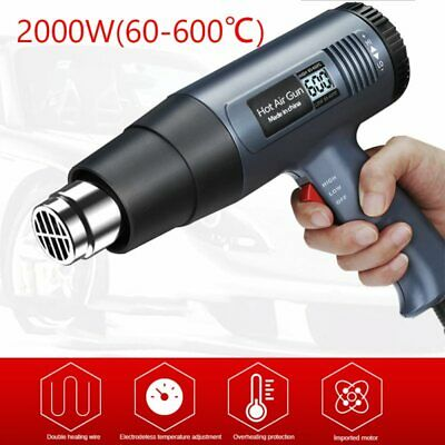 2500w 220v Eu Plug Industrial Electric Hot Air Gun Thermoregulator Lcd Heat Gun