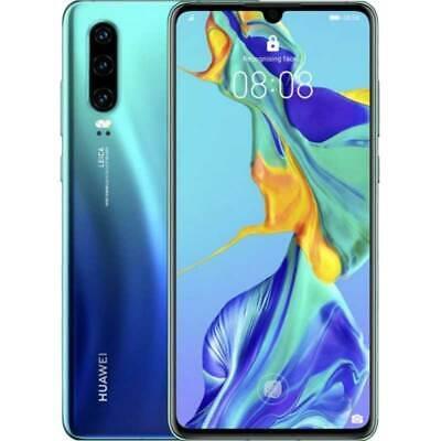 Huawei P30 4G 128GB Dual SIM BLU aurora 24 mesi garanzia Italia europa NO BRAND