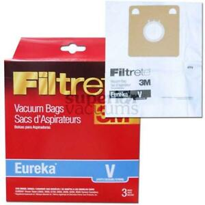 Paper Bag Type V 3 Pack 3M Fits Series 3800 3900 6700 6800 8000 8200 6810 Rally 6859 6876 6878 Beaumark 98605 Singer Sys