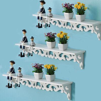 Decor Wall Shelves (Set of 3 Floating Shelves Bookshelf Wall Mount Shelf Display Home Decor White US )