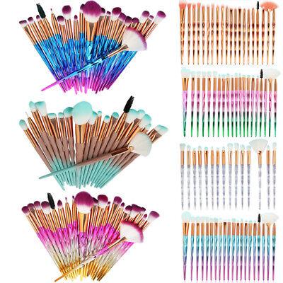 20Pcs/Set Unicorn Diamond Beauty Makeup Brushes Eyebrow Eyeshadow Soft Brush Kit