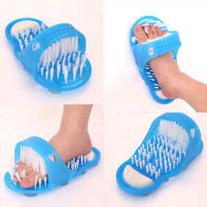 Useful Bathroom Shower Feet Foot Cleaner Washer Brush Massager Scrubber Hot