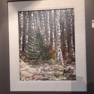 "Original Artwork, ""First Snow"" by local artist Jane Antovic"