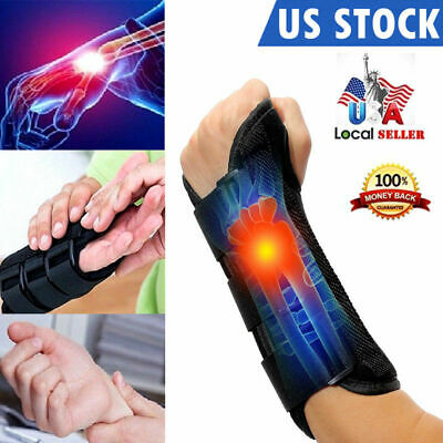 Carpal Tunnel Wrist Support Tendonitis Control Brace Splint Day Night One Size