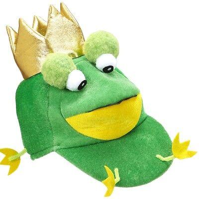 FROSCHKÖNIG MÜTZE Kostüm Frosch Froschkostüm Märchen Tier Kostüm Zubehör - König Kostüm Zubehör