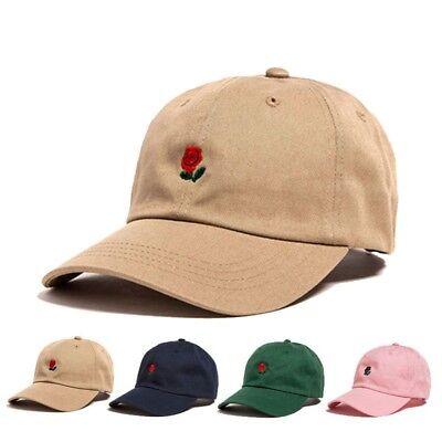The Hundreds Dad Hat Flower Rose Embroidered Snapback Baseball Cap Men Visor - Rose Hat