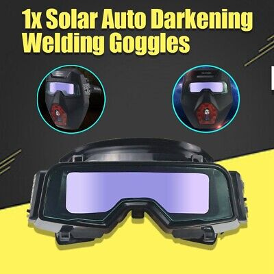 1pc Solar Auto Darkening Welding Goggles Helmet Tig Mig Grinding Shield Glasses