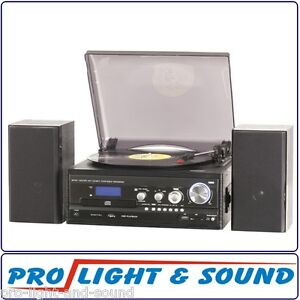 Record Player + CD + Cassettes + MP3s + USB + SDs AM/FM Radio with HiFi Speakers