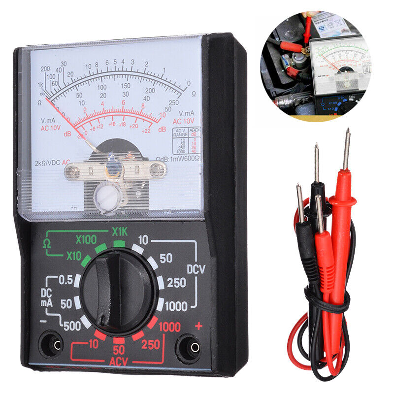 Electrical Analogue Multimeter AC DC Volts Ohm. Circuit Mult