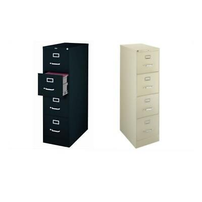 2 Piece Value Pack 4 Drawer Filing Cabinet in Putty and Black (Black Colored File Cabinet)