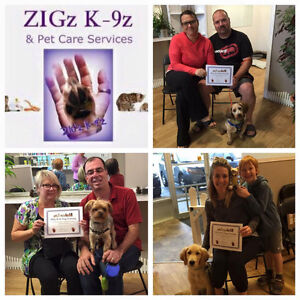 DOG TRAINING SPECIALS WITH ZIGz K-9z & PET CARE SERVICES