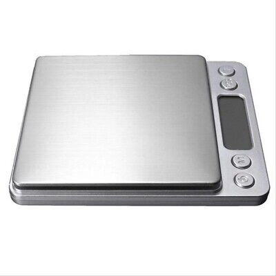 Digital Kitchen Scale 7lb/0.004 ounce 3KG/0.1G Slim Electronic Stainless Steel