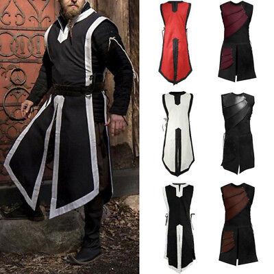 Retro Medieval Renaissance Men Armor Long Tops Shirt Knight Viking Party - Renaissance Knight Armor