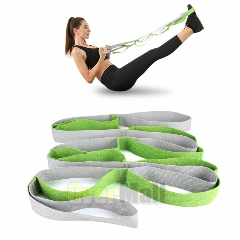 2.5M Stretching Strap with 12 Loops - Exercise Stretch Out Strap Leg Stretcher