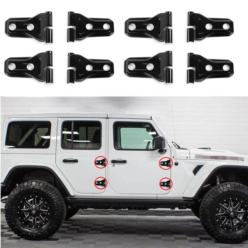 Exterior ABS Door Hinge Covers Trim For 2018 Jeep Wrangler JL 4-Door Accessories