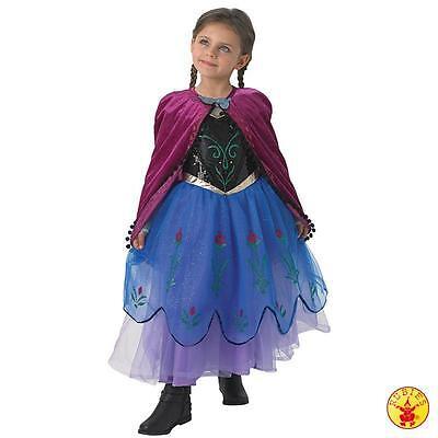IAL Disney Lizenz Kinder Kostüm Anna Premium Frozen Kleid Prinzessin Eiskönigin
