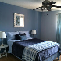 Large,furnished bedroom with private 3 piece ensuite in Sakaw.