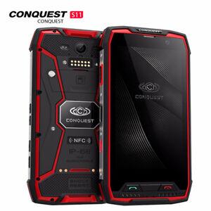 Conquest S11 Shockproof Smartphone IP68 Waterproof 6GB RAM+128G