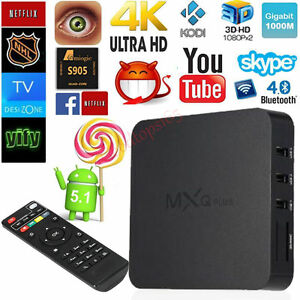 FREE TV - Android 5.1.1 4k TV Box With Remote - Fully Programmed