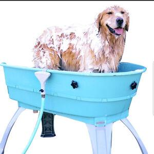 Large dog washing bath