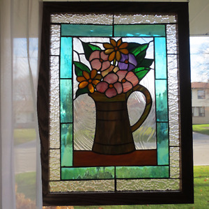 Stained Glass Flowers $225.00