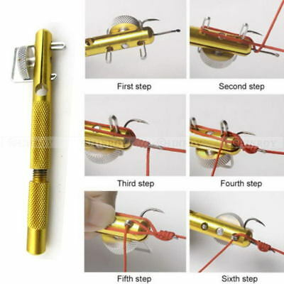 Fishing Hook Knotting Tool Tie Hook Loop Making Device Hooks Decoupling Remover