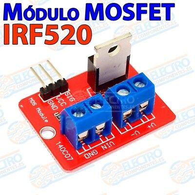 Modulo IRF520 Transistor MOSFET 24v 6A 9A Controlador PWM Motor - Arduino...