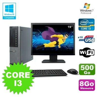Lot PC Dell 790 DT I3-2120 3.3Ghz 8Go Disque 500Go DVD WIFI Win 7 + Ecran 19