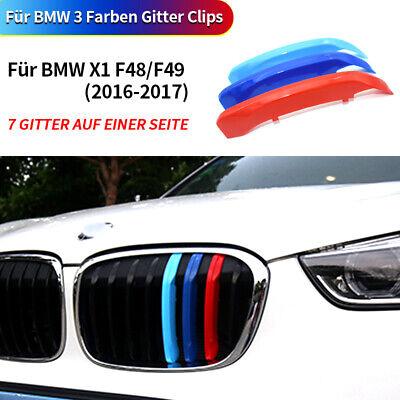 M Grill Kühlergrill Farbstreifen Decken Für BMW X1 F48 2016-2019 Neu