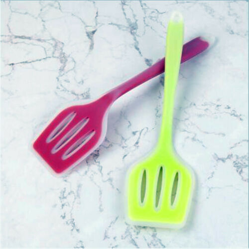 1PC Nonstick silicone slotted turners pot shovel cooking spatula fried O3
