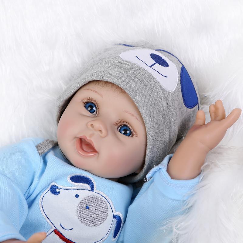"22"" Npkdoll Reborn Doll Handmade Lifelike Baby Solid Silicone Dolls +Clothes US"