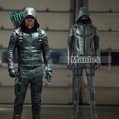 Green Arrow 5 Cosplay Oliver Queen Costume Speedy Halloween Leather Men Outfits - Halloween Costumes Green Arrow