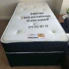 Memory foam with spring mattress with divan beds ( Brand new)