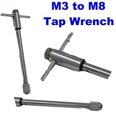 T Bar Tap Wrench M3 to M8 Extra Long 255mm Ratchet Reversible Tap and Die TP127, used for sale  Consett