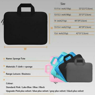 14 /15 Laptop Case Bag Sleeve With Handle For Macbook Air Pro Lenovo Handbag  - $12.99