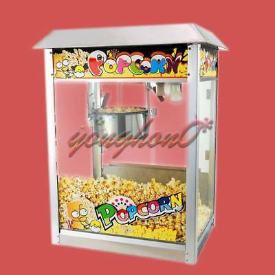 New commercial Automatic Electric Popcorn Machine Commercial Popcorn Maker 220V