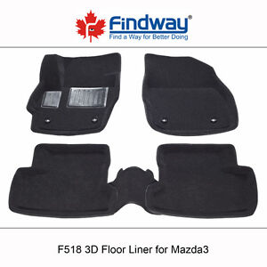 All weather 3D Car Floor Mats/Liners for 2010-2013 Mazda3