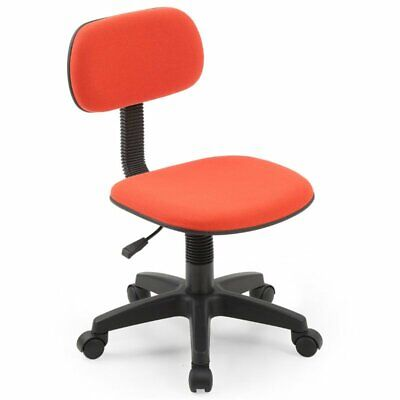 Hodedah Armless Adjustable Height Swivelling Kids Task Chair In Red Fabric