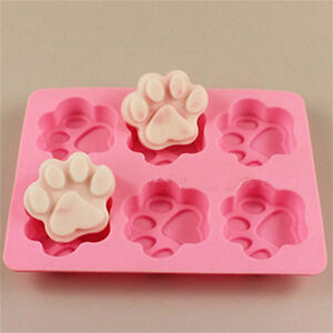 Cat Dog Paw Silicone Fondant Mould Cake Soap Cookies Chocolate Baking Tin Mold
