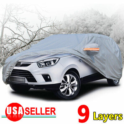 SUV Full Car Cover Waterproof Scratch Sun UV Dust Rain Snow Resistant Protection